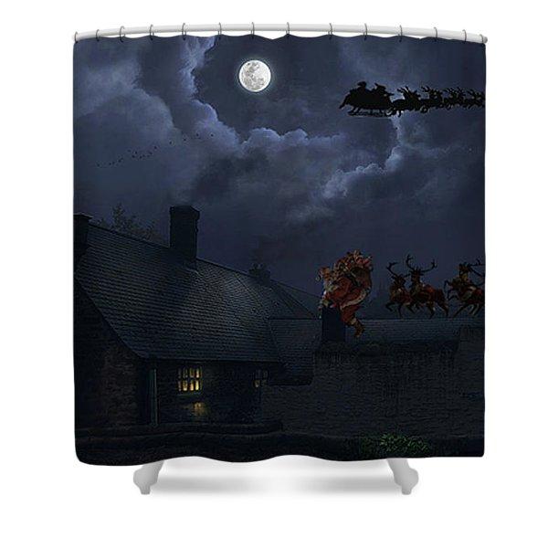 Santas Shower Curtain