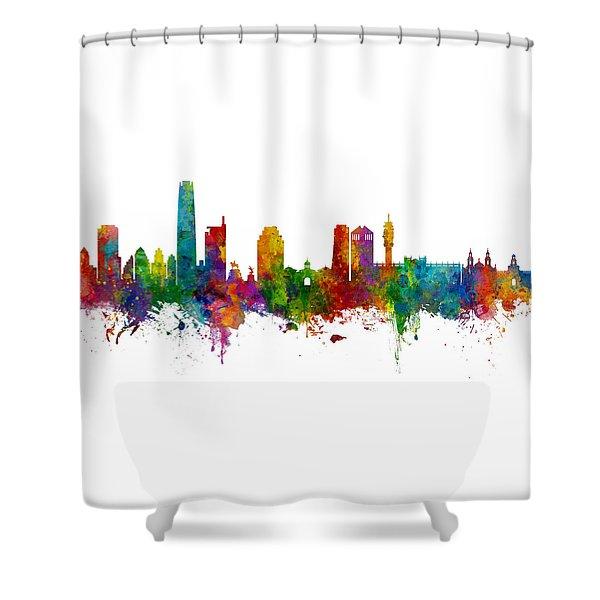 Santiago De Chile Skyline Shower Curtain