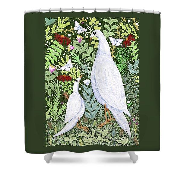 Sapientes Pacis Birds Shower Curtain