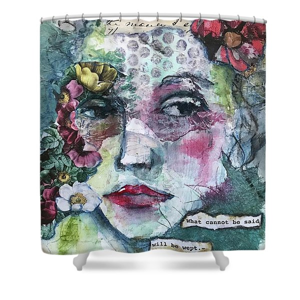 Sappho's Quote Shower Curtain