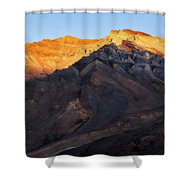 Shower Curtain featuring the photograph Sarchu Sunrise by Whitney Goodey