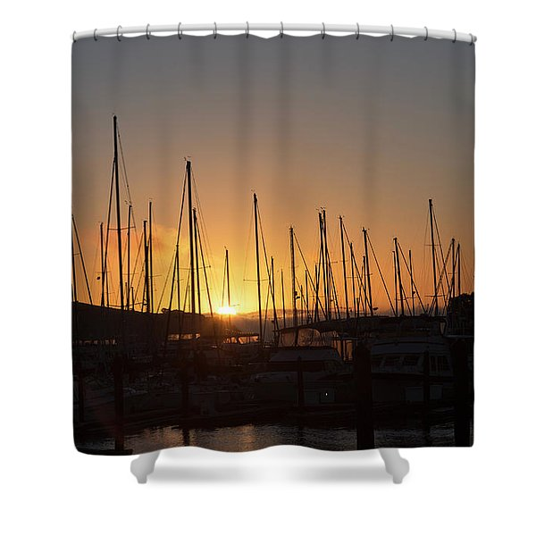 Sausalito California Sunrise Gathering Shower Curtain