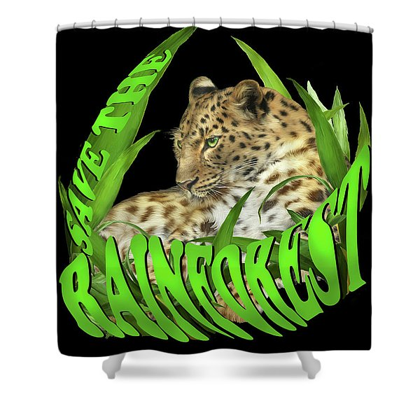 Save The Rainforest Shower Curtain