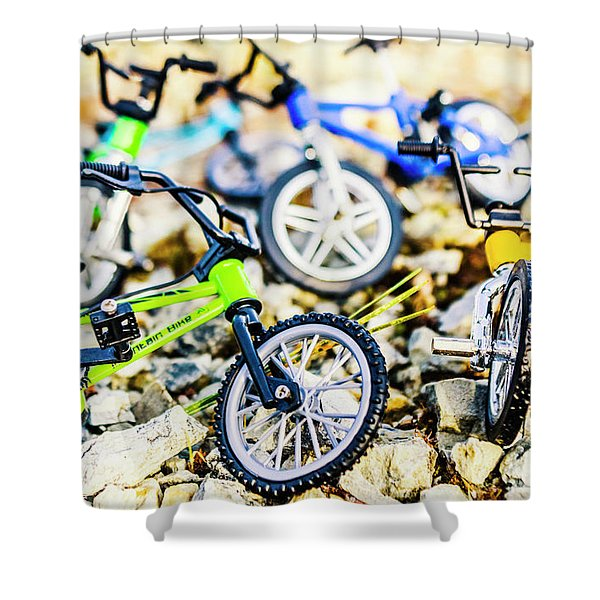 Scaled Mountain Adventure Shower Curtain