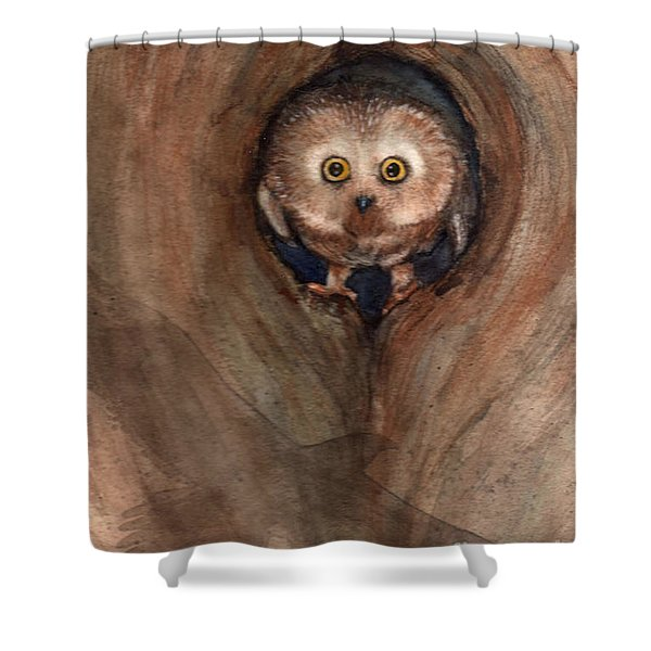 Scardy Owl Shower Curtain