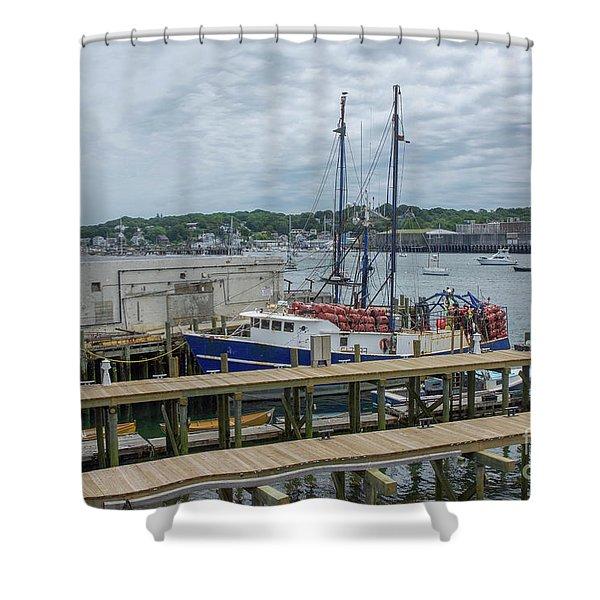 Scenic Harbor Shower Curtain