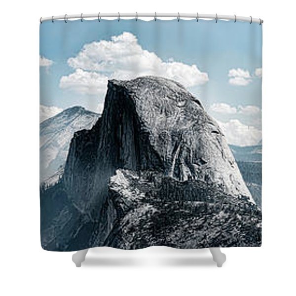 Scenic View Of Rock Formations, Half Shower Curtain