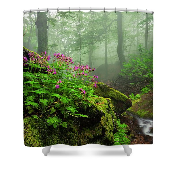Scent Of Spring Shower Curtain