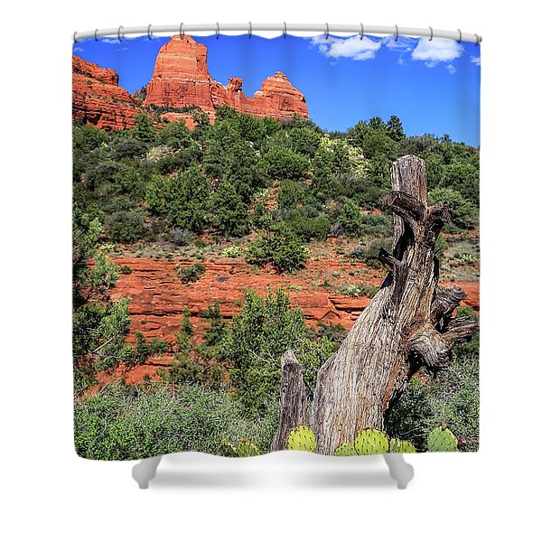 Schnebly Hill View, Sedona Shower Curtain