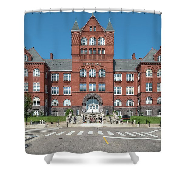 Science Hall Building Seen From Langdon Shower Curtain