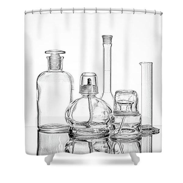 Science Still Life Shower Curtain