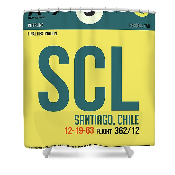 Scl Santiago Luggage Tag II Shower Curtain