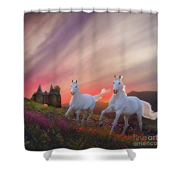 Scotland Fantasy Shower Curtain