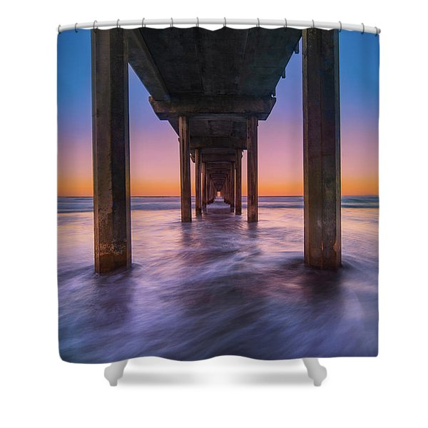 Scripps Pier - 2 Shower Curtain