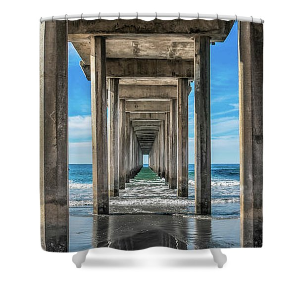 Scripps Pier La Jolla California Shower Curtain