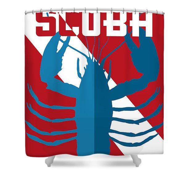Scuba Lobster Shower Curtain