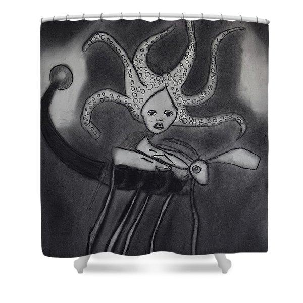 Sea Fly Shower Curtain