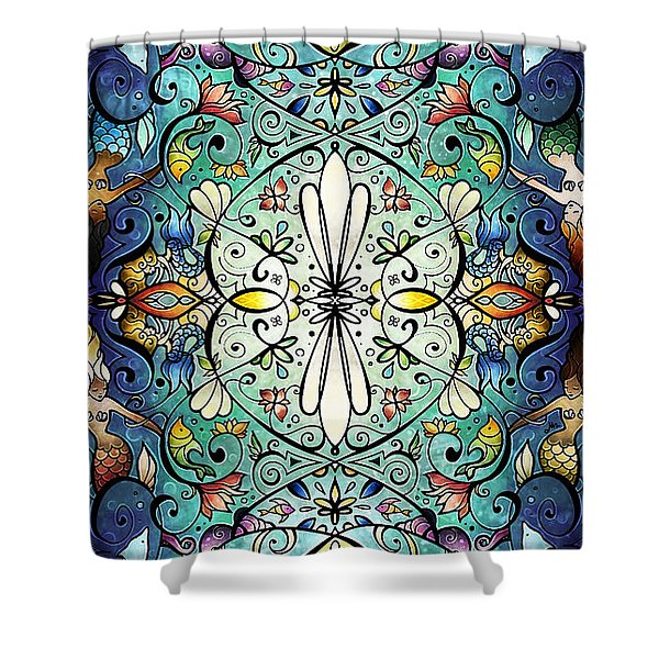 Sea Melody Shower Curtain