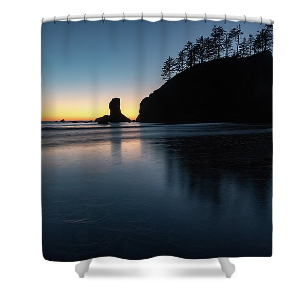 Sea Stack Silhouette Shower Curtain