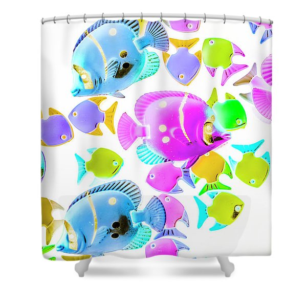 Sea Swimmers Shower Curtain