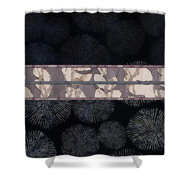 Sea Urchin Contrast Obi Print Shower Curtain