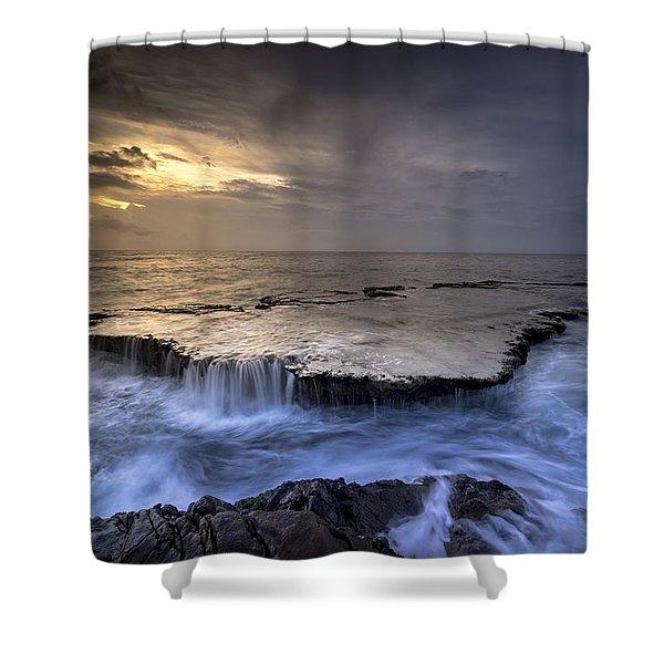 Sea Waterfalls Shower Curtain