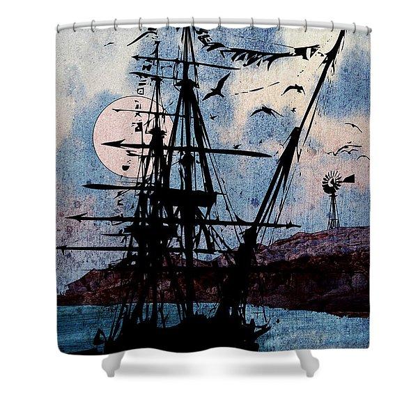 Seafarer Shower Curtain
