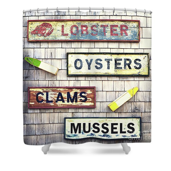 Seafood Signs Shower Curtain