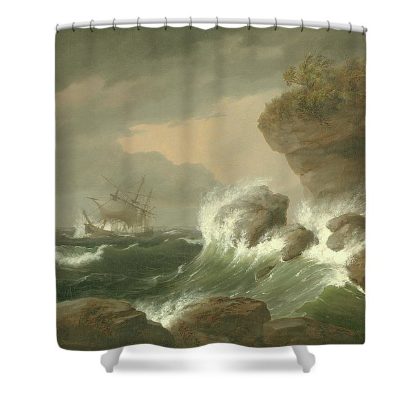 Seascape, 1835 Shower Curtain