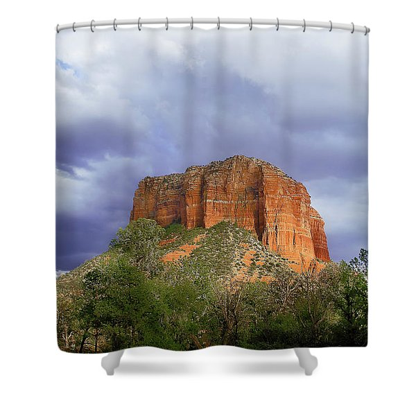 Devil's Mountain Shower Curtain