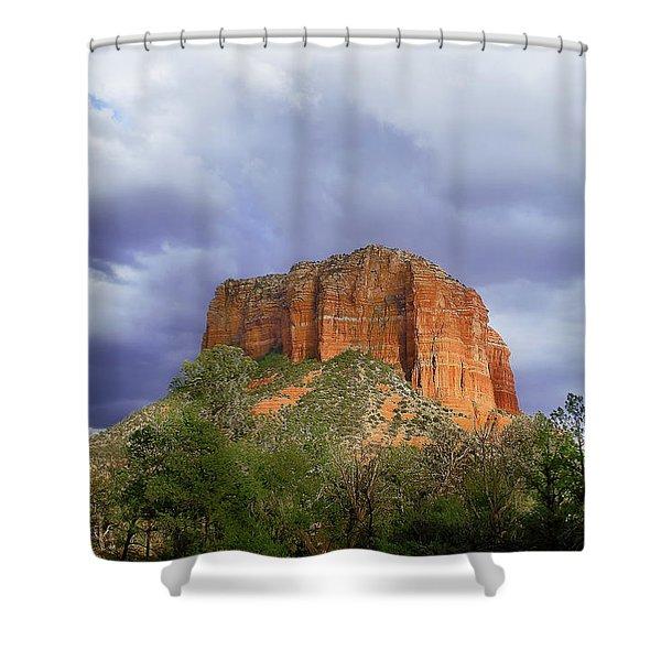 Devil's Mountain Shower Curtain