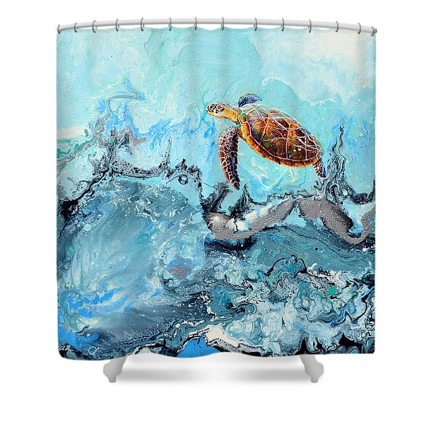 See Turtle Shower Curtain