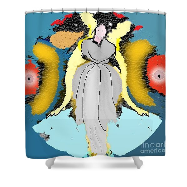 Seeing Angels Shower Curtain