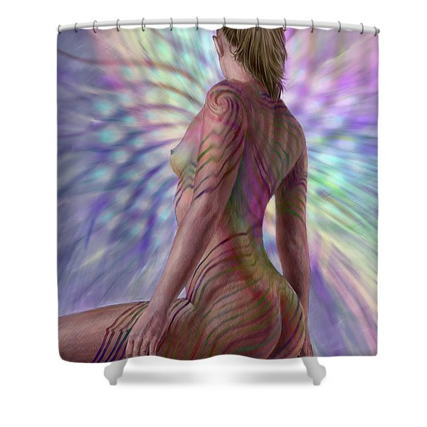 Seeing Phyllotaxis 2 Shower Curtain