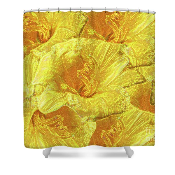 Selective Yellow Lilies Shower Curtain