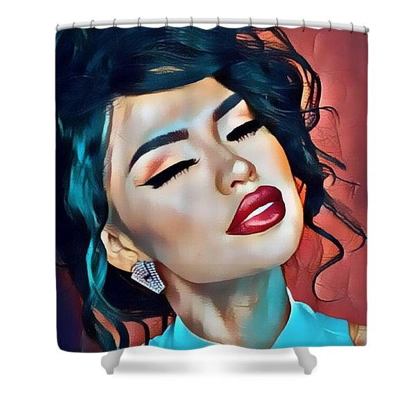 Selena Is Dreaming Of You Shower Curtain