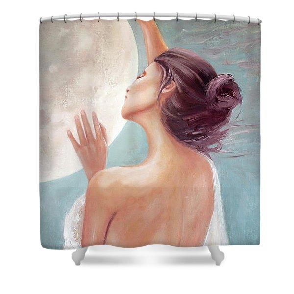 Selene Moon Goddess Shower Curtain