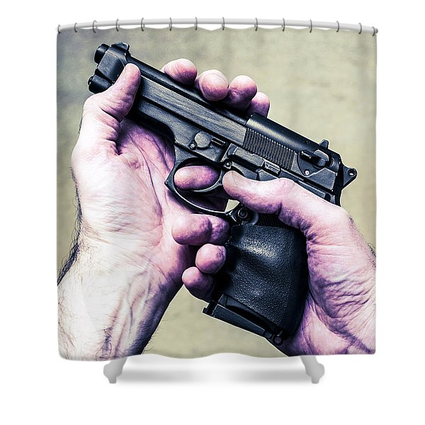 Self Defence Shower Curtain