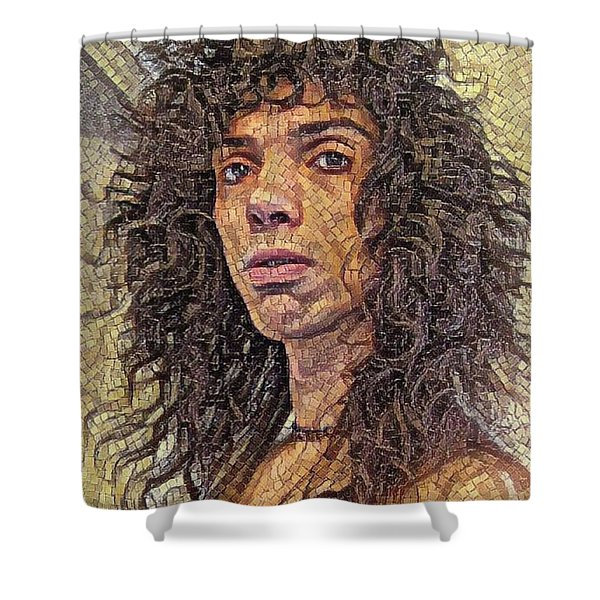 Self Portrait - The Shawn Mosaic - 80s Glam Rock Shower Curtain