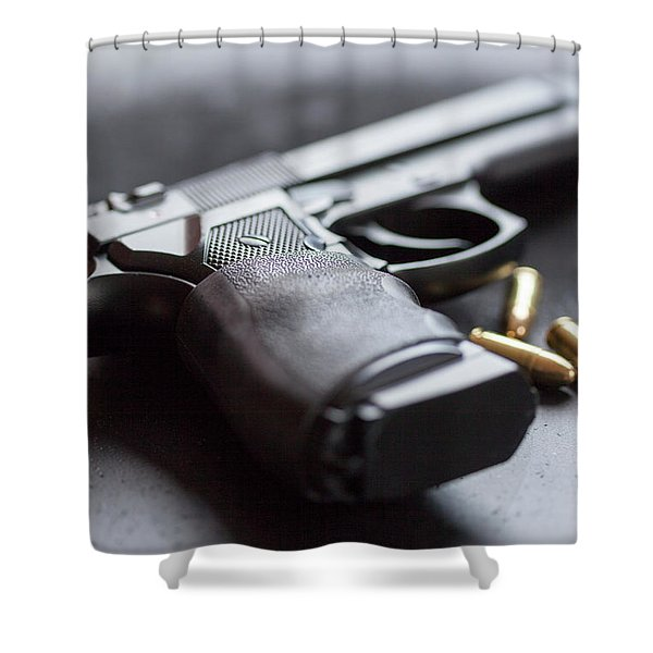Semi Auto And Bullets Shower Curtain