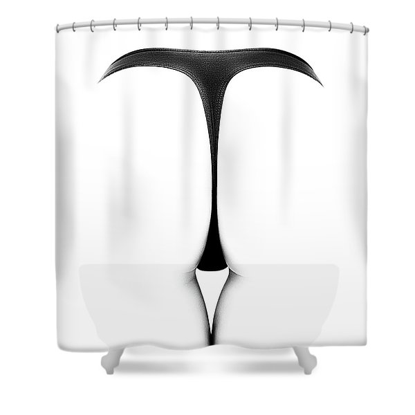 Sensual Abstract Buttocks Shower Curtain