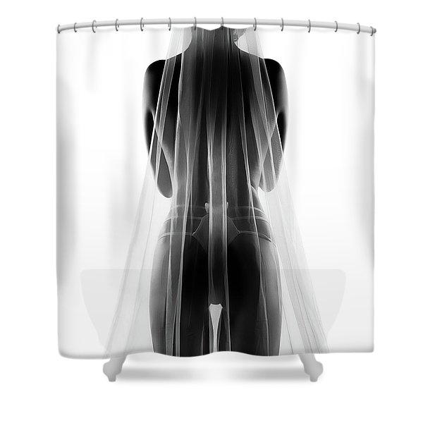 Sensual Bride In Lingerie2 Shower Curtain