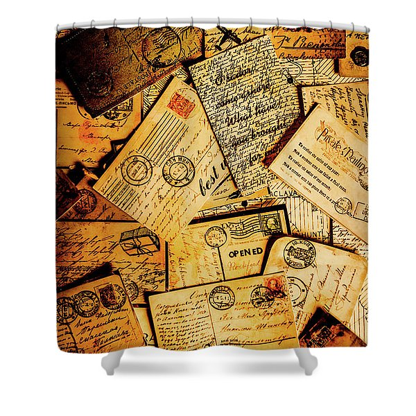 Sentimental Writings Shower Curtain
