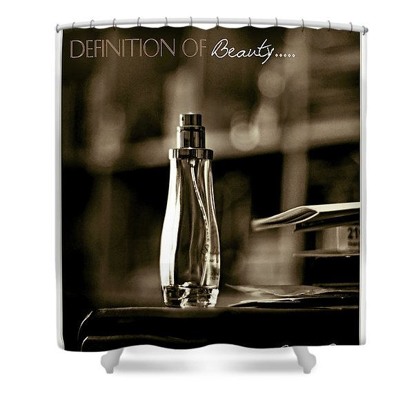 Sepia Definition Of Beauty Shower Curtain