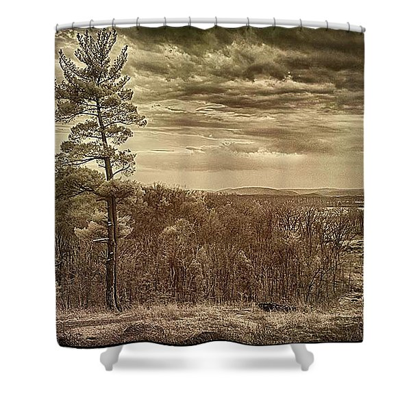 Sepia Sunset Shower Curtain