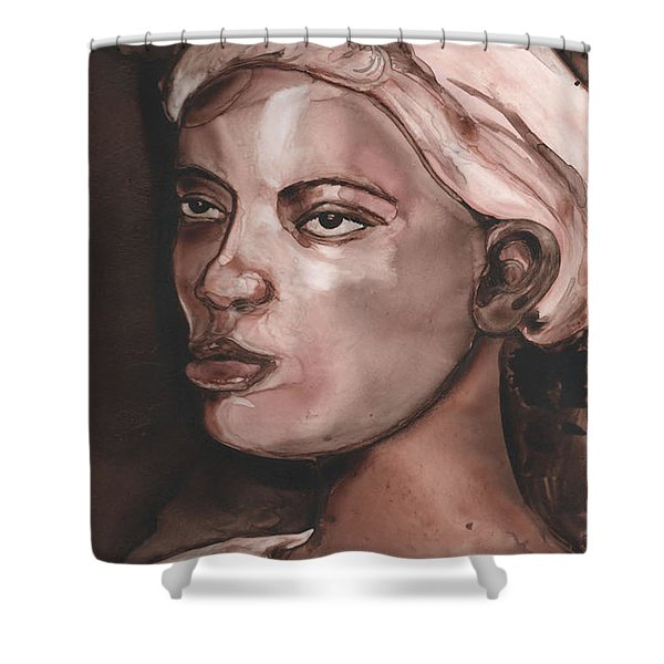 Sepia Woman Shower Curtain