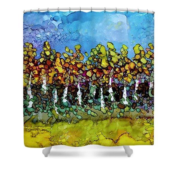 September Aspens Shower Curtain