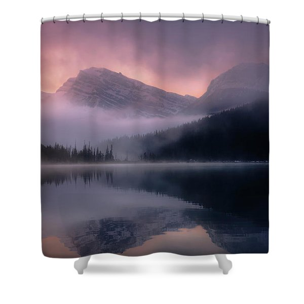 September Sunrise Banff Shower Curtain