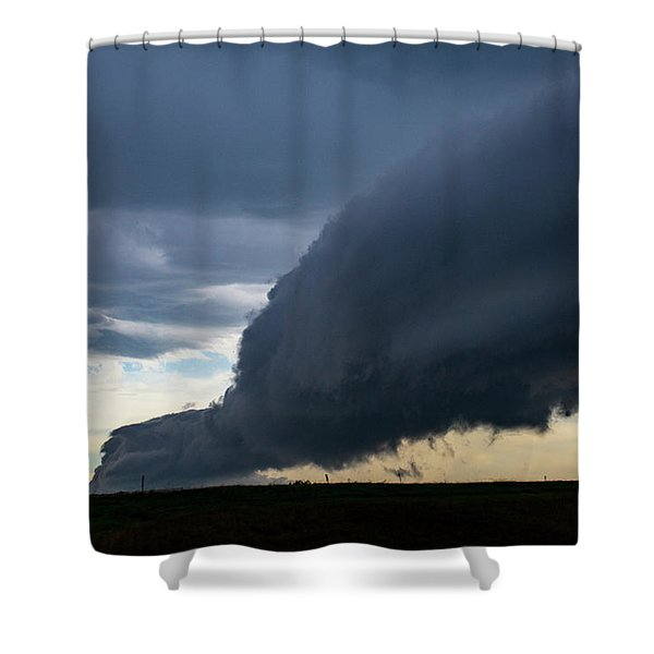 Shower Curtain featuring the photograph September Thunderstorms 003 by NebraskaSC