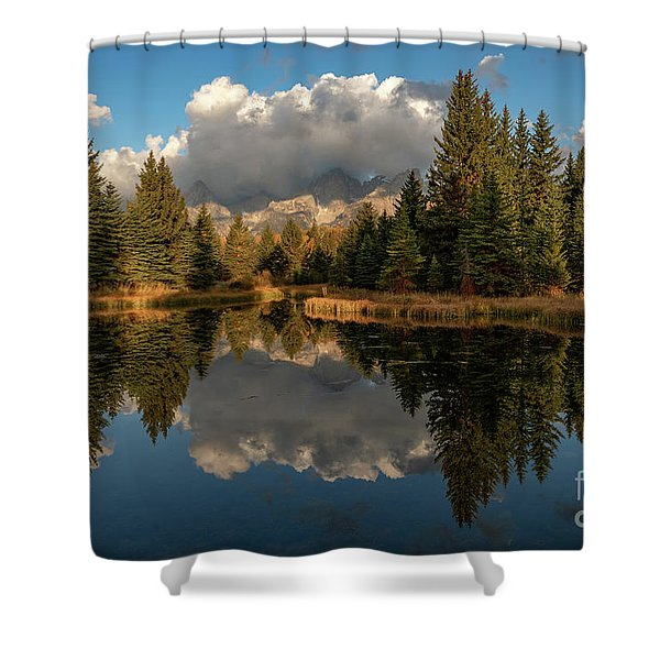 Serene At Schwabachers Landing Shower Curtain